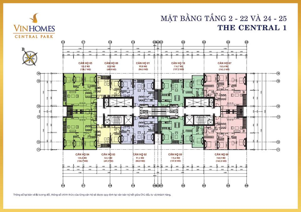 mat bang vinhomes central park central1 3