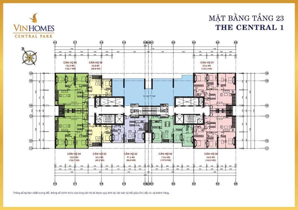 mat bang vinhomes central park central1 4