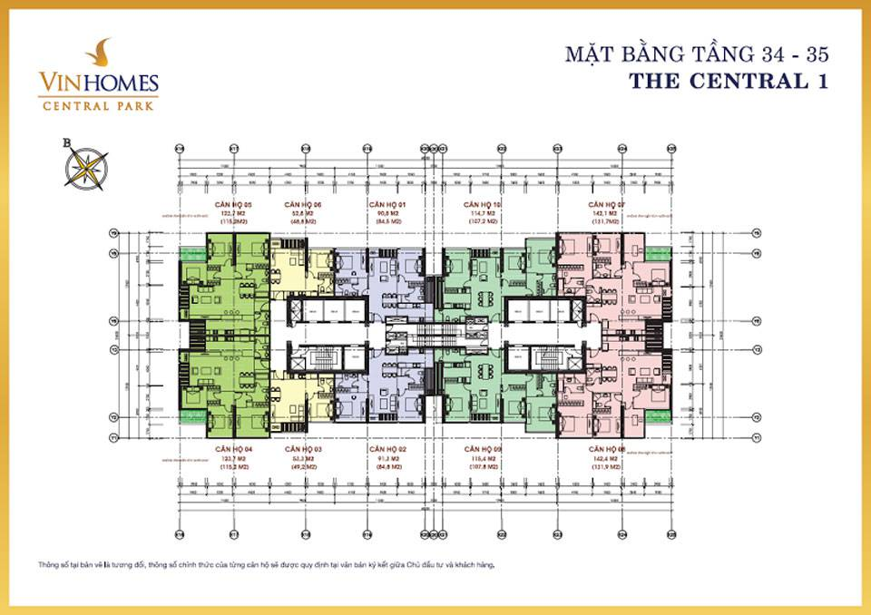 mat bang vinhomes central park central1 6