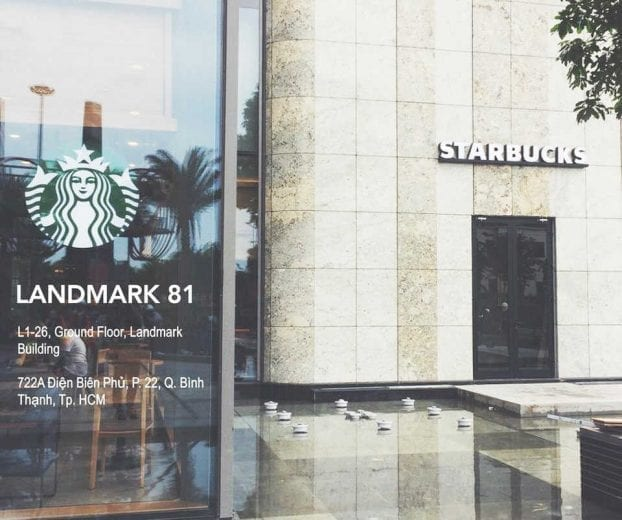 Cafe Starbucks, Tầng trệt Vincom Center Landmark 81