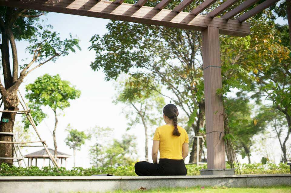 Không gian yên tĩnh tại công viên Vinhomes