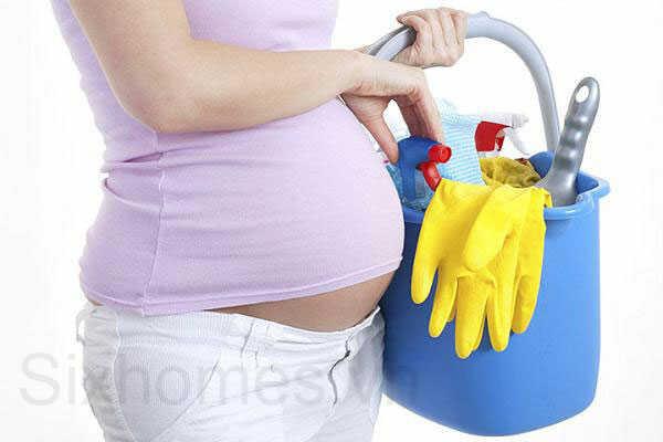 Phụ nữ mang thai dẹp dẹp nhà mới là điều cấm kỵ