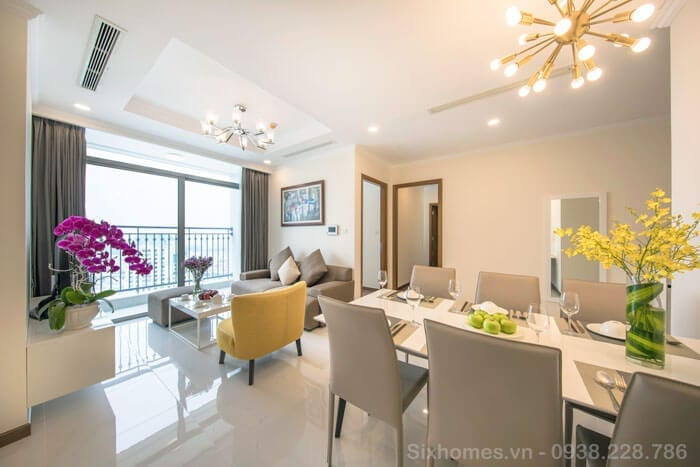 Thuê căn hộ Vinhomes ngắn hạn thep ngày